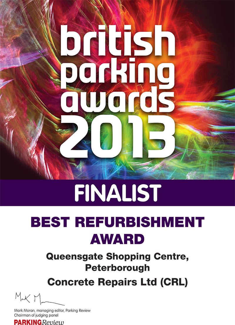 2013 British Parking Awards Best Refurbished Car Park finalist