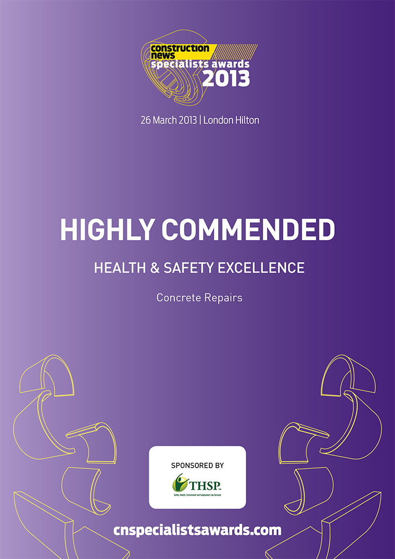 2013 Construction News Awards Health & Safety Excellence