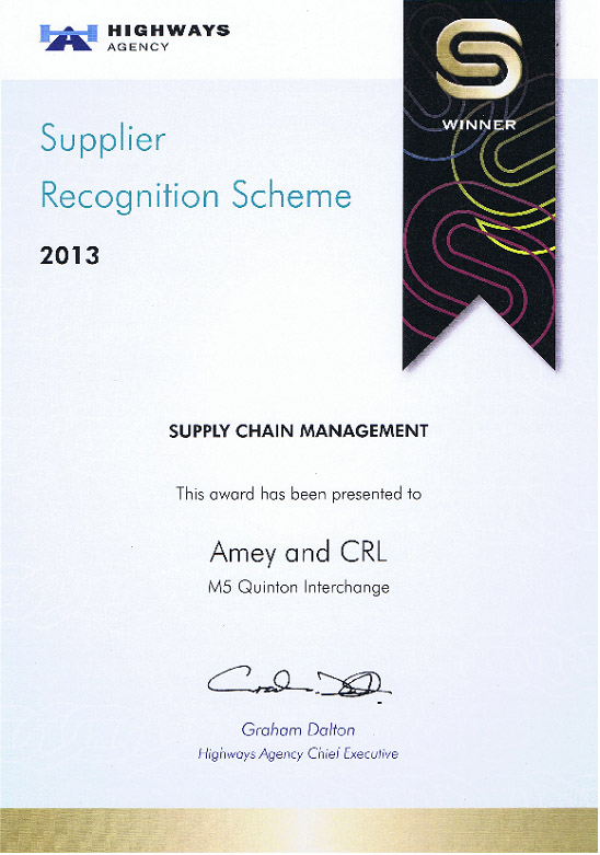 2013 Highways Agency Supplier Chain Management