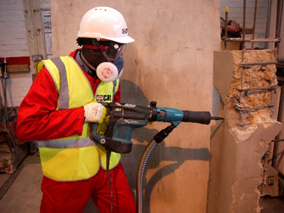 controlling the respirable silica dust on construction sites