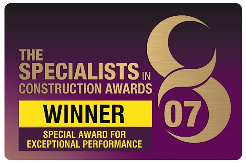 2007 Construction News Special Award for Exceptional Performance